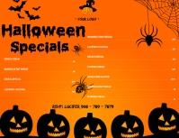 Halloween themed menu template 传单(美国信函)