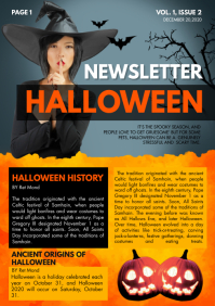 Halloween themed Newsletter A4 template