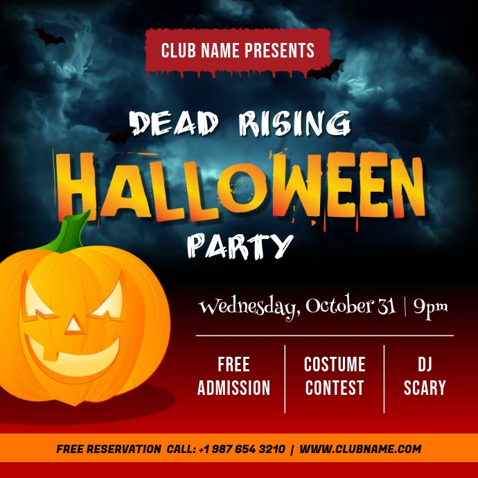 Halloween themed Party Invitation Video Ad
