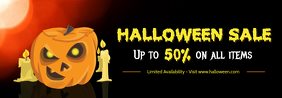 Halloween Themed Sale Tumblr Header Template