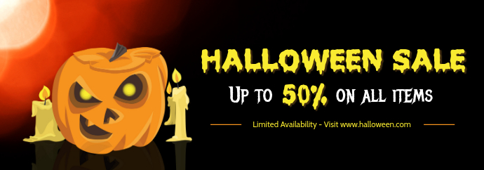 Halloween Themed Sale Tumblr Header Template Tumblr-banner