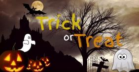 Halloween Trick or Treat banner Template Facebook-gebeurtenisomslag