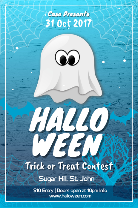Halloween Trick or Treat Contest Poster Plakat template