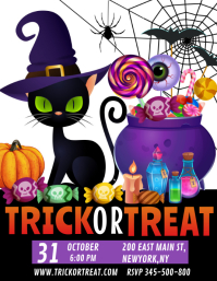 Halloween trick or treat Flyer (US Letter) template