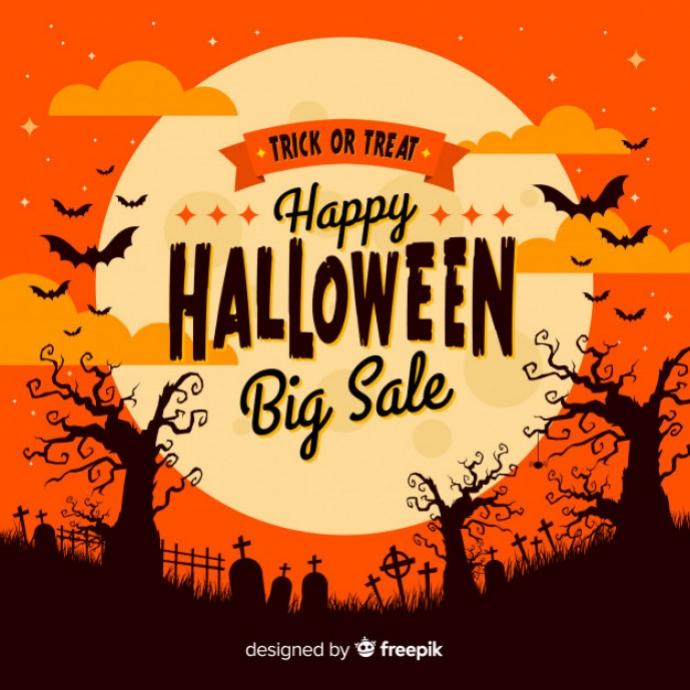 Halloween Trick or Treat Logo template