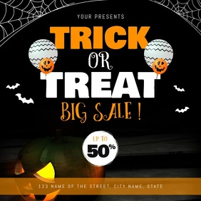 Halloween Trick or Treat Sale Square Video