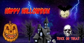 Halloween trick or treat social media poster