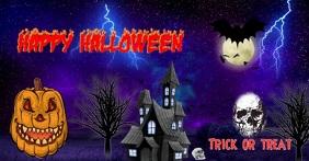 Halloween trick or treat social media poster