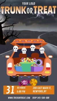 Halloween trunk or treat, trick or treat Instagram Story template