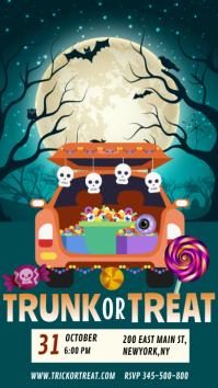 Halloween trunk or treat, trick or treat Historia de Instagram template