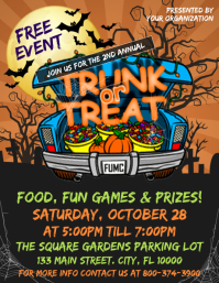 Halloween Trunk or Treat Flyer (US Letter) template