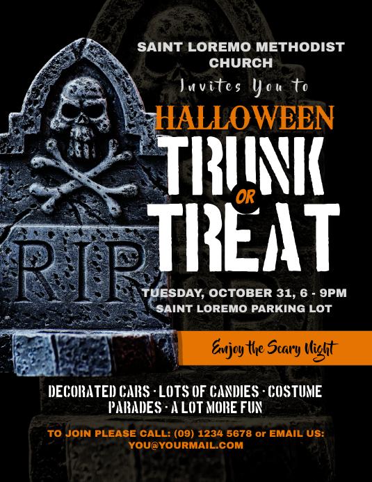 Halloween Trunk or Treat Flyer Templates