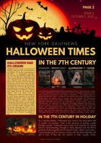 Halloween Twilight Newsletter A4 template