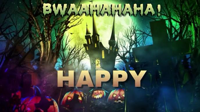 HAPPY HALLOWEEN V.1 Tampilan Digital (16:9) template