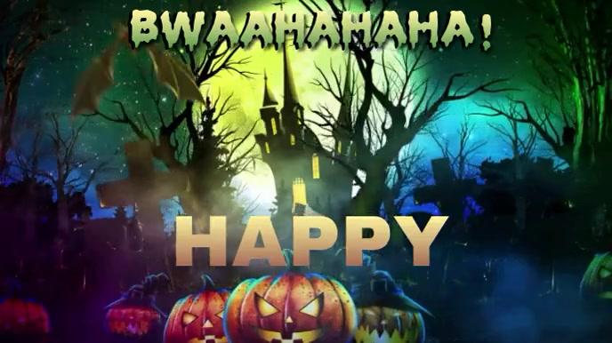 HAPPY HALLOWEEN V. 2 Affichage numérique (16:9) template