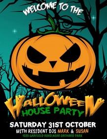 halloween video, halloween flyer, pumpkin