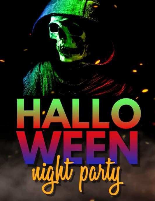 halloween video, happy halloween, scary Folder (US Letter) template