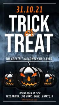 halloween video, happy halloween, spooky Umbukiso Wedijithali (9:16) template