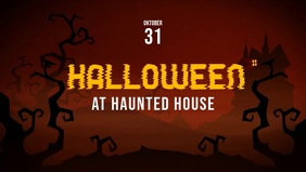 Halloween Video advertising template facebook cover
