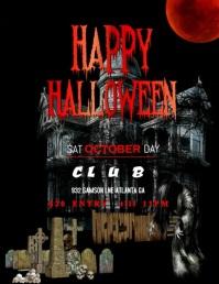 Halloween video Flyer (format US Letter) template