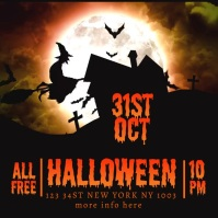Halloween video event flyer template