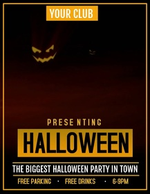 Halloween video flyer,event video flyer,party