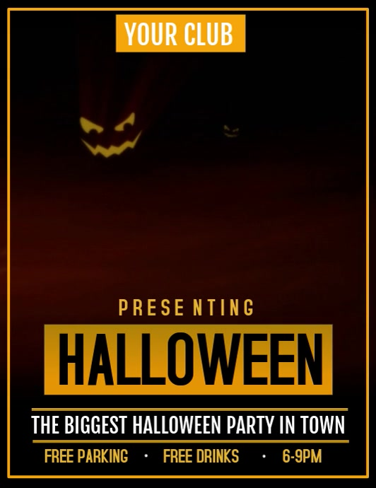 Halloween video flyer,event video flyer,party