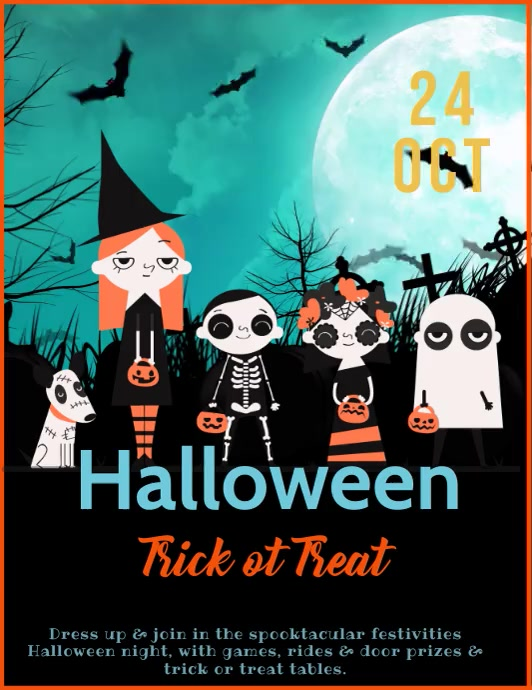 Halloween video Flyer animated template