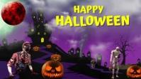 Halloween Video Flyer Digitalanzeige (16:9) template