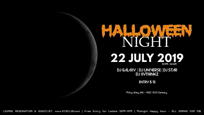 Halloween video Night event Party ad Video Promo