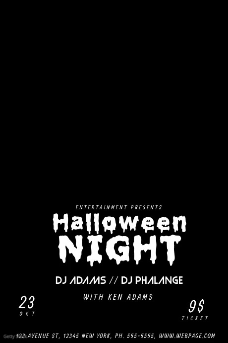 Halloween Video Flyer Template