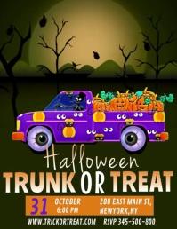 Halloween video template, trunk or treat Volante (Carta US)