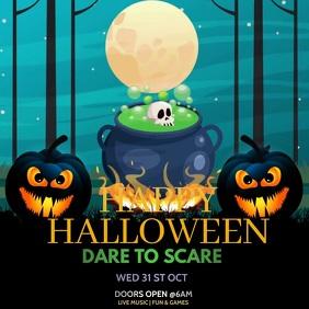 Halloween Video template,Halloween Square (1:1)