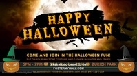 Halloween Vintage Party Digital Display Advertisement