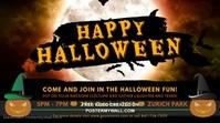 Halloween Vintage Party Digital Display Advertisement