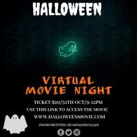 Halloween virtual movie night Instagram-Beitrag template