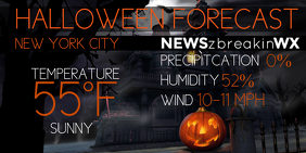 Halloween Weather Report Twitter Post template