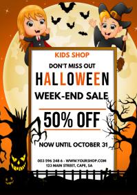 Halloween Week-end Sale A4 template