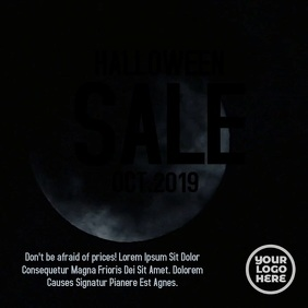 Halloween White Moon Video Template
