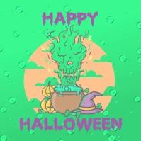 Halloween wishes Persegi (1:1) template