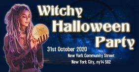 Halloween witch party Ibinahaging Larawan sa Facebook template