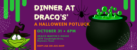 Halloween Witch Party Potluck Facebook Cover Template