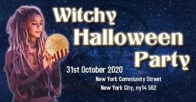 Halloween witch party video Ibinahaging Larawan sa Facebook template
