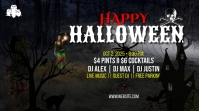 Halloween YouTube Channel Cover Photo Coverfoto til YouTube-kanal template