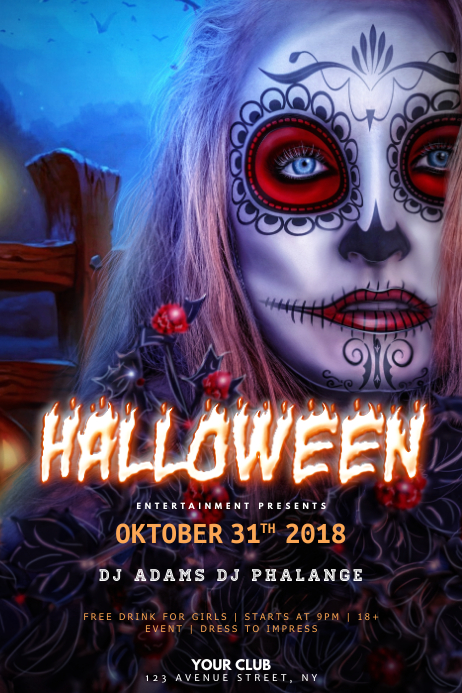 Halloween Zombie Party Flyer Template