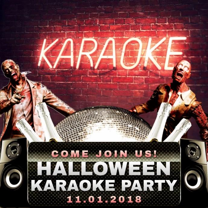 Halloween Zombie Party Video Invitation Template Kvadrat (1:1)