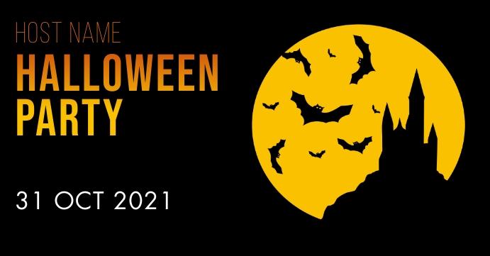 Halloweenl game Portada de evento de Facebook template