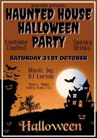 Halloweenparty Flyer Template Advert A4