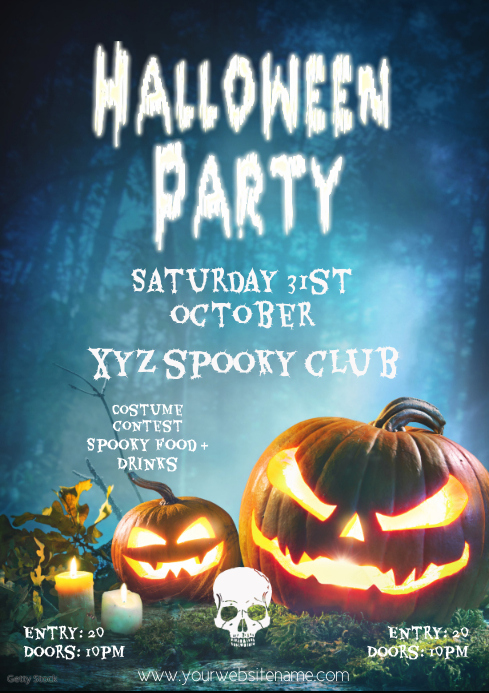 Halloweenparty flyer template club