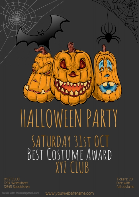 Halloweenparty flyer Template event